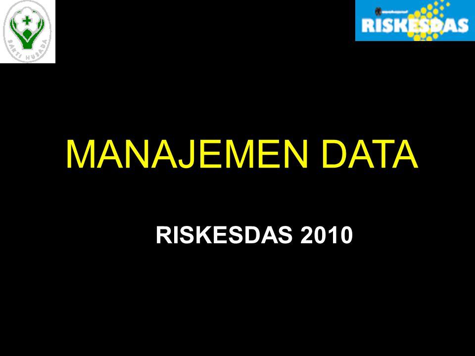 MANAJEMEN DATA RISKESDAS 2010