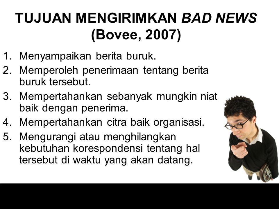Tidak ada seorangpun yang senang menyampaikan berita buruk Berita baik menyebar dengan cepat, Berita buruk menyebar lebih cepat lagi.. Jadi Keluarlah