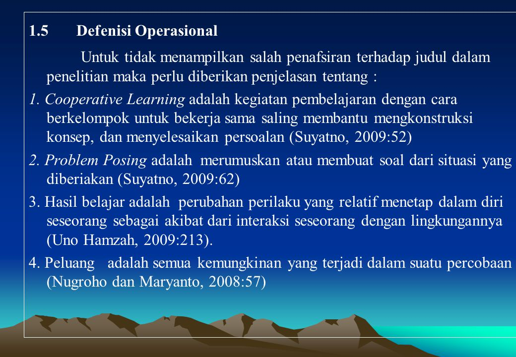 1.5Defenisi Operasional Untuk tidak menampilkan salah penafsiran terhadap judul dalam penelitian maka perlu diberikan penjelasan tentang : 1.