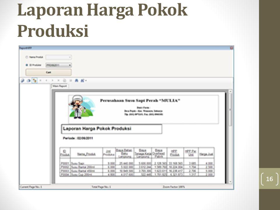 Laporan Harga Pokok Produksi 16
