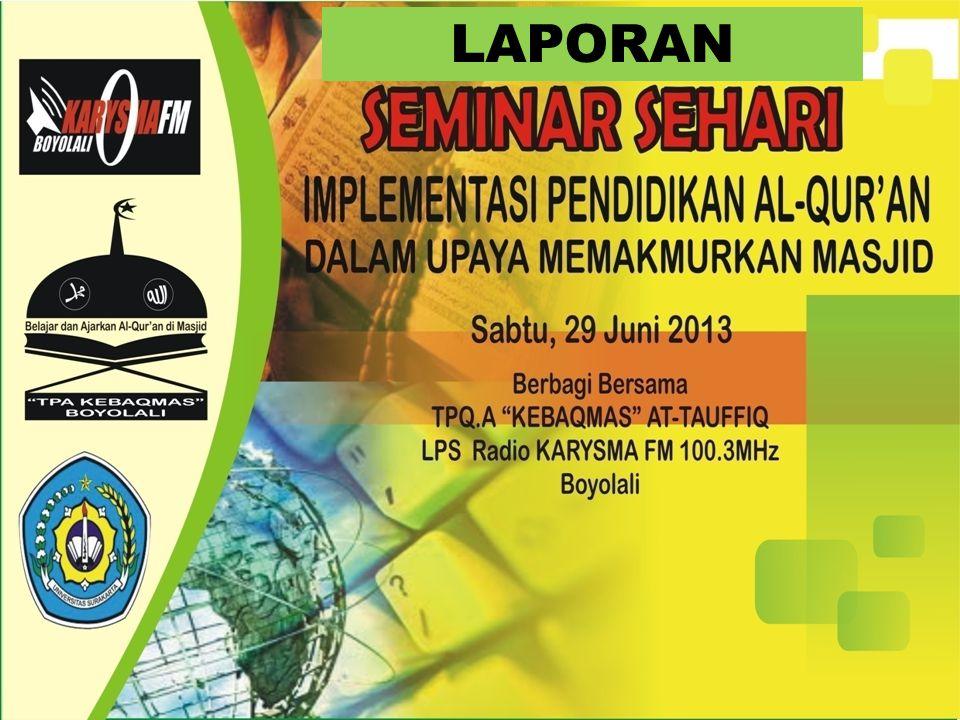 NARA SUMBER Ramadhian Agus Triono SPd.I, S.Kom, MM ( Praktisi LPS Radio Karysma FM 100.3 Mhz .