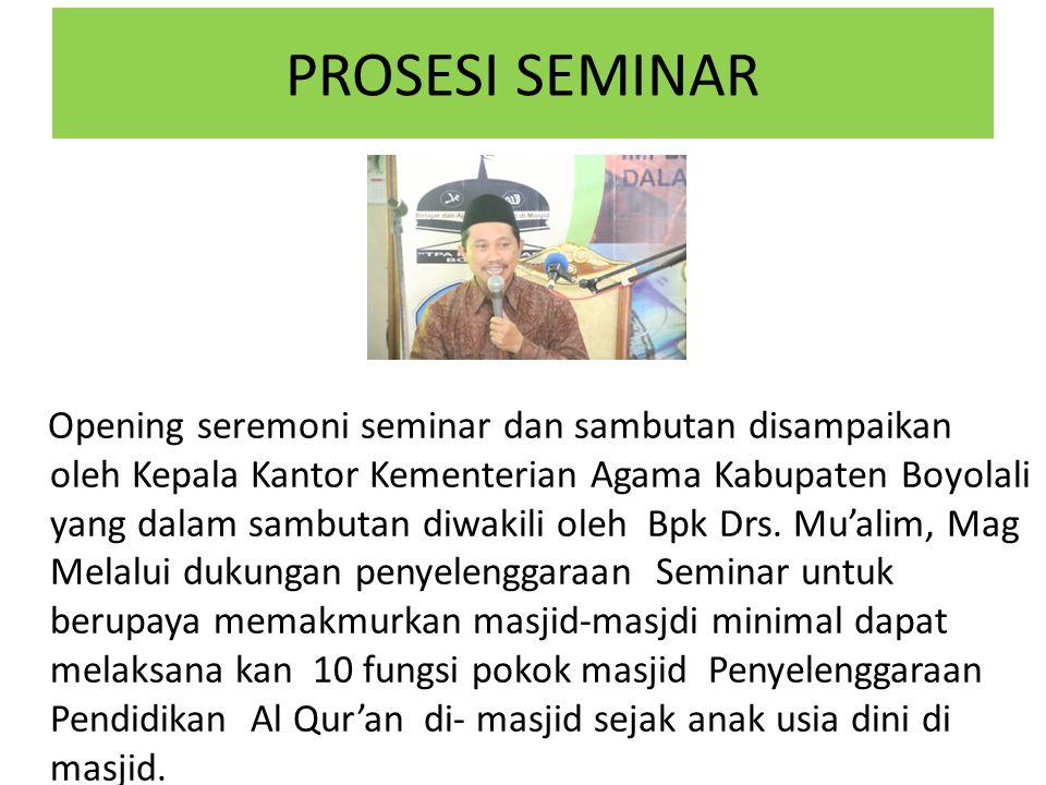 NARA SUMBER Nara Sumber pembicara pada Seminar : Drs.