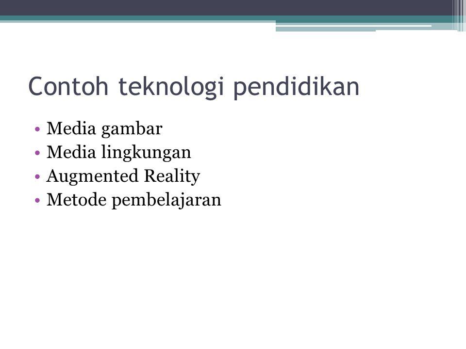 Contoh teknologi pendidikan Media gambar Media lingkungan Augmented Reality Metode pembelajaran