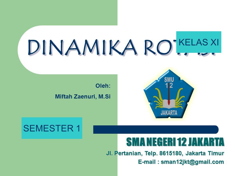 DINAMIKA ROTASI DINAMIKA ROTASI SMA NEGERI 12 JAKARTA Jl. Pertanian, Telp. 8615180, Jakarta Timur E-mail : sman12jkt@gmail.com Oleh: Miftah Zaenuri, M
