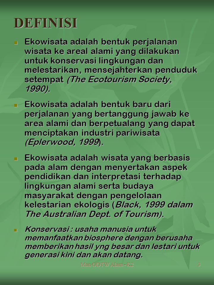 Man ODTW Alam - K24 Destinasi Ekowisata : Kawasan alami : hutan, sungai, Tmn.