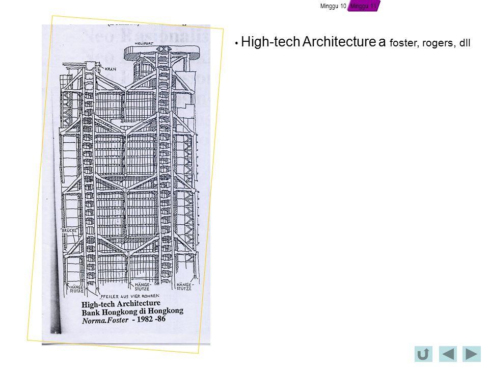Minggu 10 High-tech Architecture a foster, rogers, dll Minggu 11