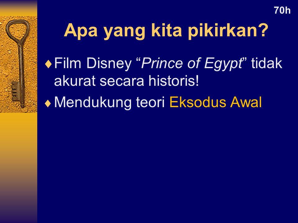  Film Disney Prince of Egypt tidak akurat secara historis.