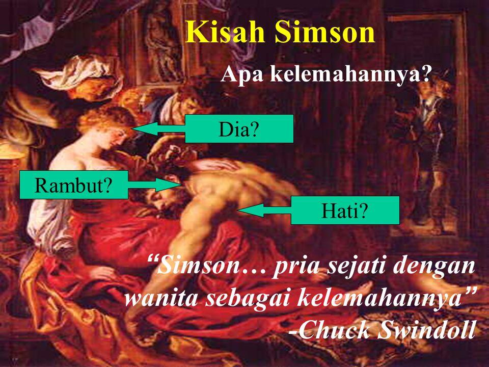 Samson's Weakness Kisah Simson Rambut.Apa kelemahannya.