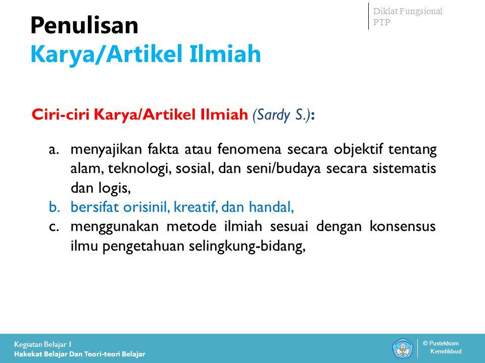 Kementrian Pendidikan dan Kebudayaan Indonesia Diklat Fungsional PTP TerimaKasih