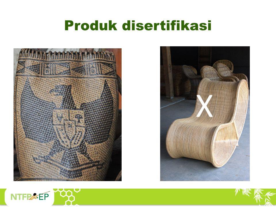 Produk disertifikasi X