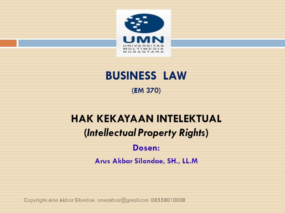 HAK KEKAYAAN INTELEKTUAL (Intellectual Property Rights) Jill Mc Keogh dan Andrew Steward HKI adalah sekumpulan hak yang diberikan oleh hukum untuk melindungi investasi ekonomi dari usaha-usaha yang kreatif.