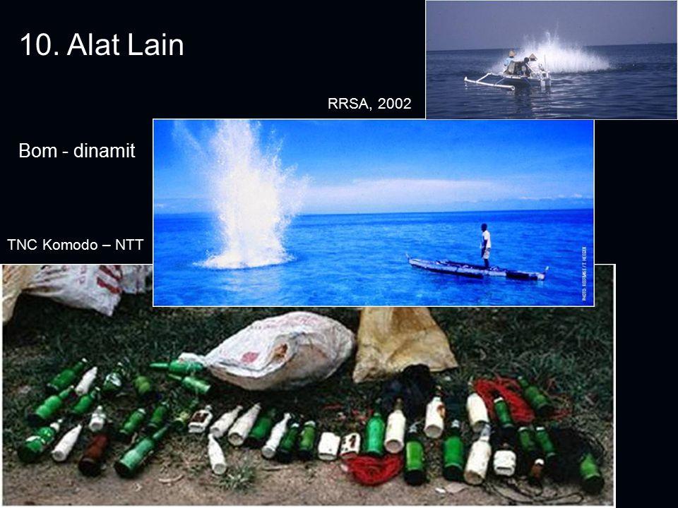 10. Alat Lain Bom - dinamit TNC Komodo – NTT RRSA, 2002