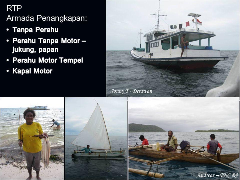 RTP Armada Penangkapan: Andreas – TNC R4 Sonny T - Derawan