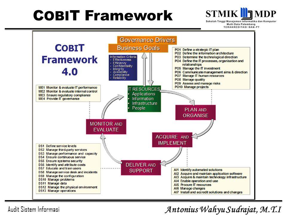 Audit Sistem Informasi Antonius Wahyu Sudrajat, M.T.I C OBI T Framework
