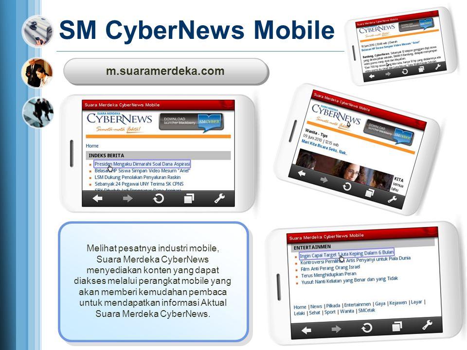 m.suaramerdeka.com m.suaramerdeka.com SM CyberNews Mobile Melihat pesatnya industri mobile, Suara Merdeka CyberNews menyediakan konten yang dapat diak