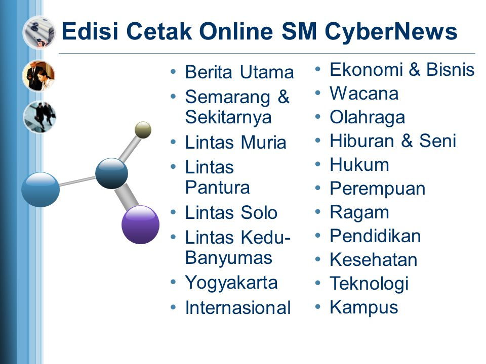 Berita Utama Semarang & Sekitarnya Lintas Muria Lintas Pantura Lintas Solo Lintas Kedu- Banyumas Yogyakarta Internasional Edisi Cetak Online SM CyberN