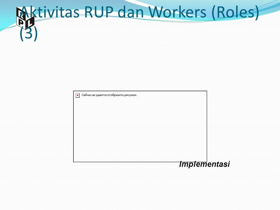 Aktivitas RUP dan Workers (Roles) (3) Implementasi