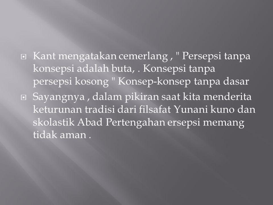  Kant mengatakan cemerlang,
