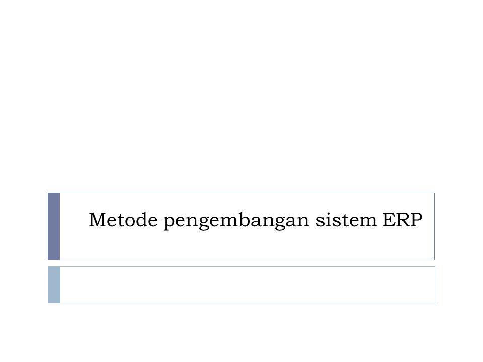 Metode pengembangan sistem ERP