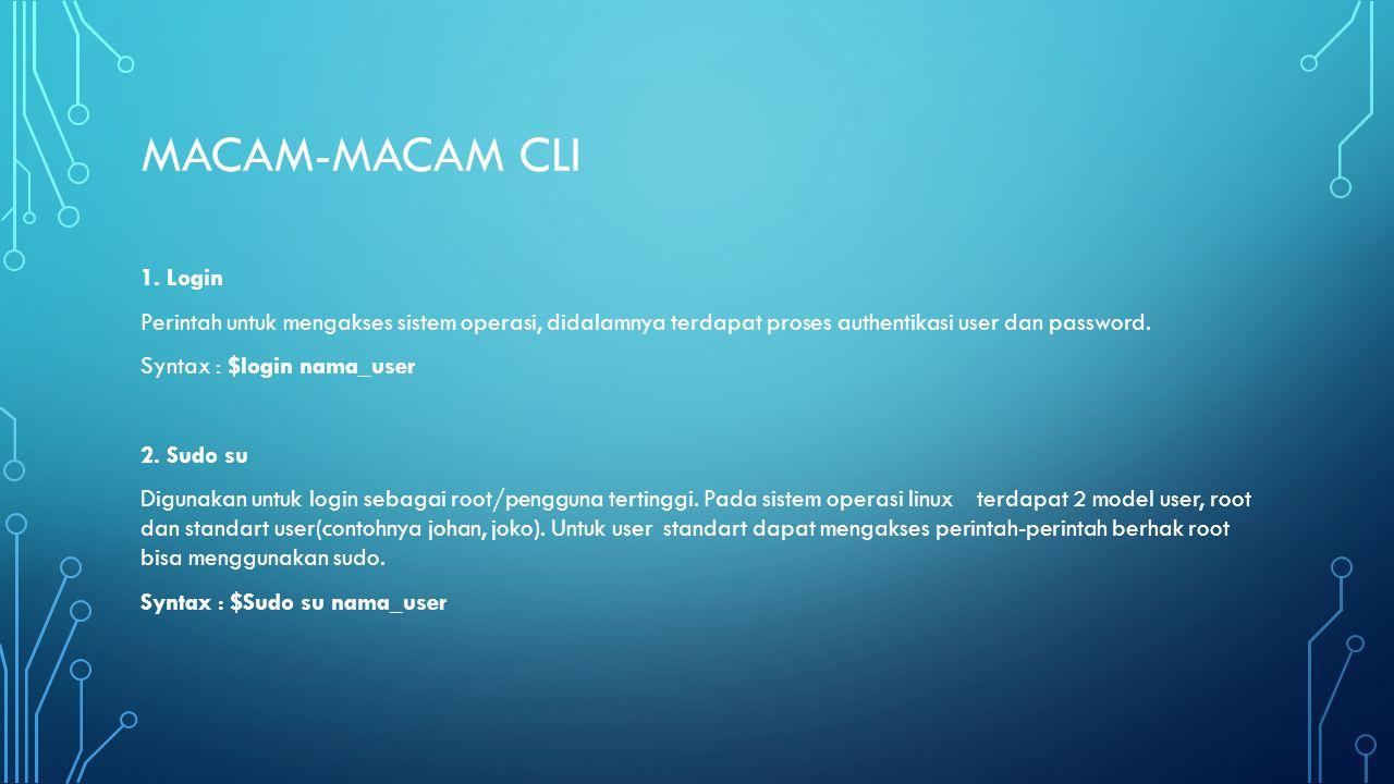 MACAM-MACAM CLI 1.
