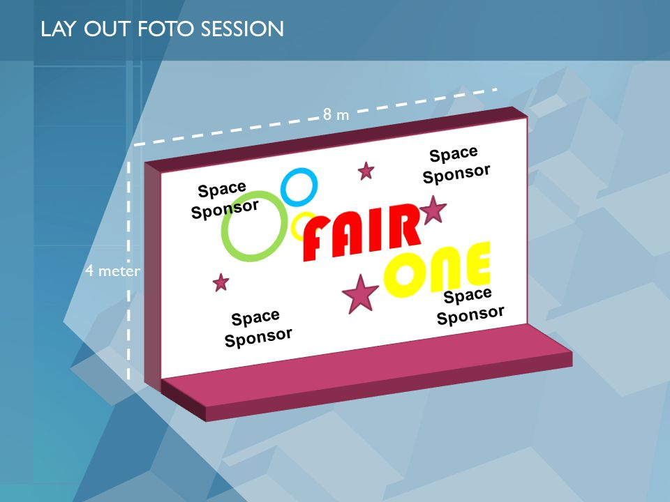 4 meter 8 m LAY OUT FOTO SESSION Space Sponsor