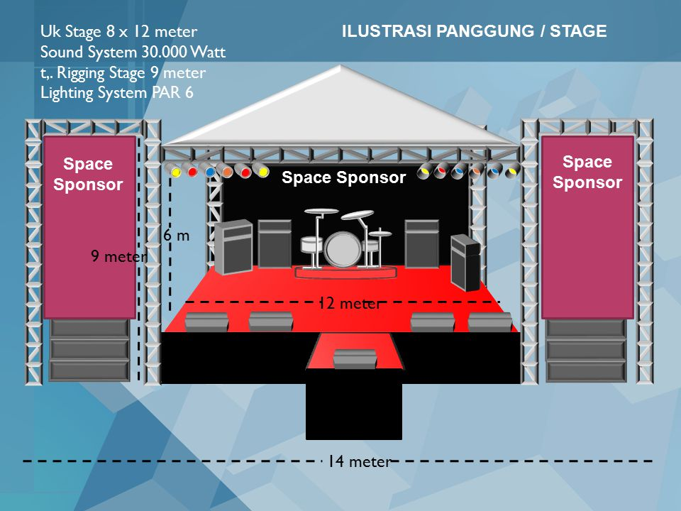 14 meter 6 m 12 meter Uk Stage 8 x 12 meter Sound System 30.000 Watt t,.