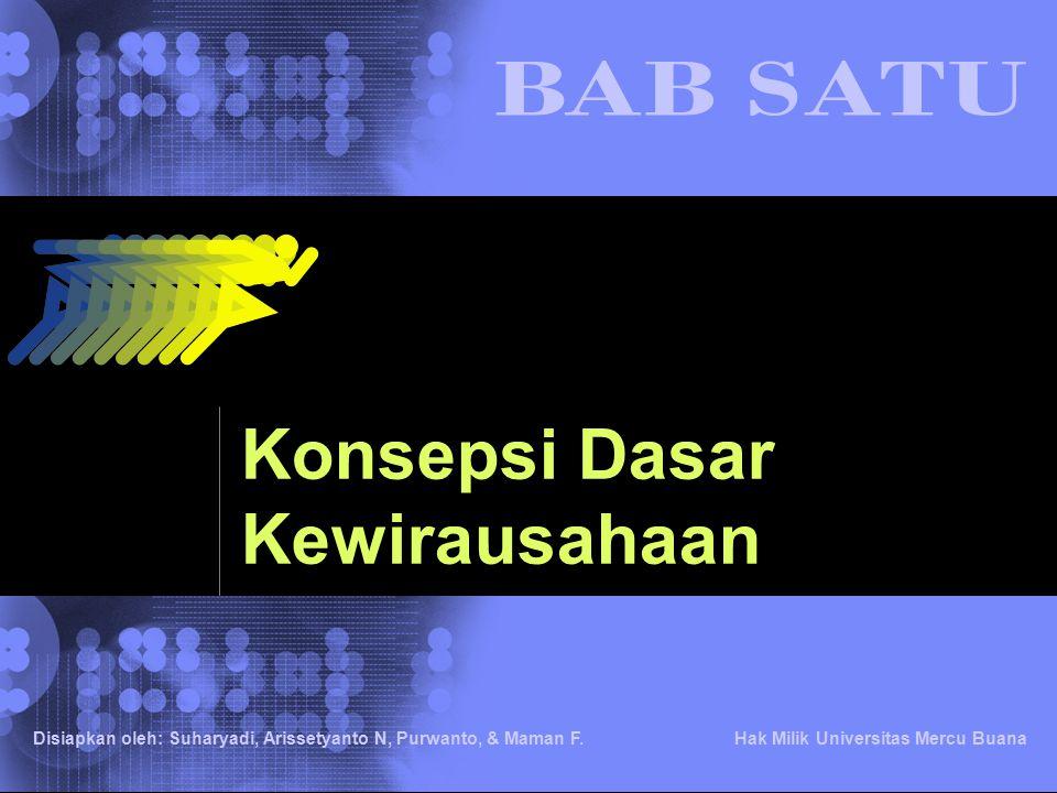 © 2002 IBM Corporation Hak Milik Universitas Mercu Buana Disiapkan oleh: Suharyadi, Arissetyanto N, Purwanto, & Maman F. Konsepsi Dasar Kewirausahaan