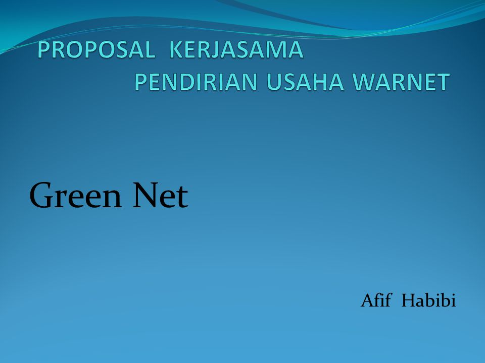 Green Net Afif Habibi