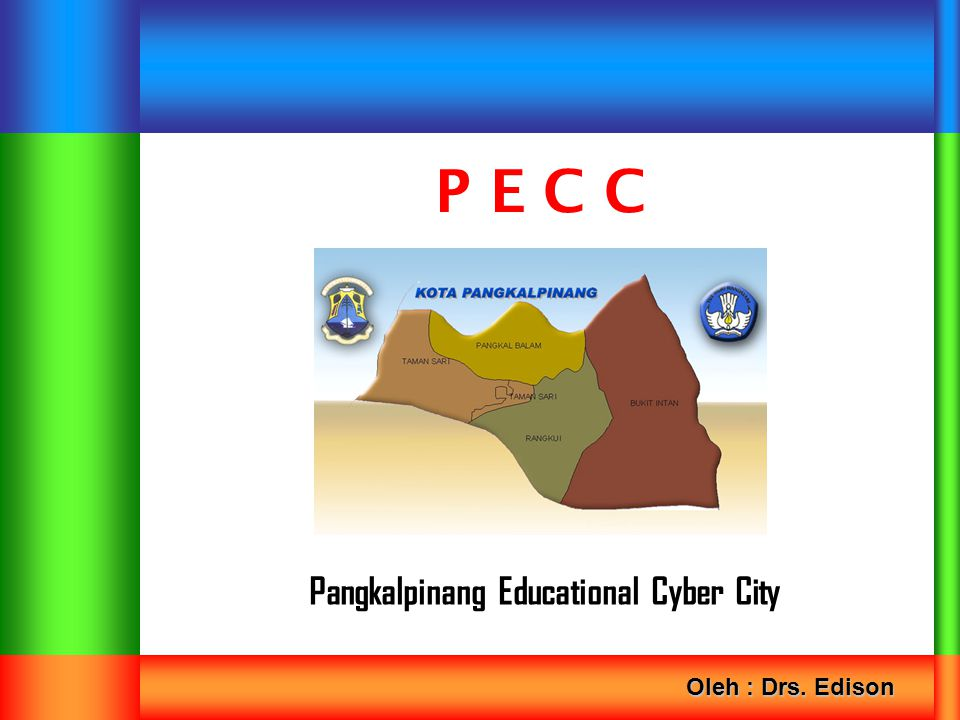 Pangkalpinang Educational Cyber City P E C C Oleh : Drs. Edison