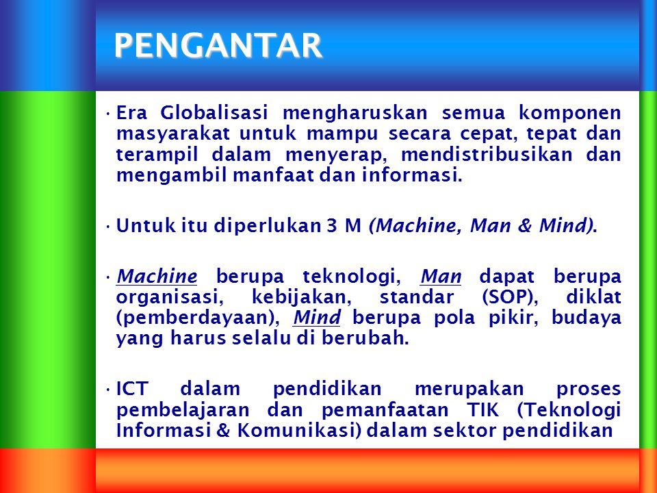 Salah satu ciri utama dari pergeseran ini adalah pemanfaatan yang meluas dari Information and Communication Technology (ICT), yang menurut berbagai jurnal masih terus akan berkembang dalam dua dekade mendatang.