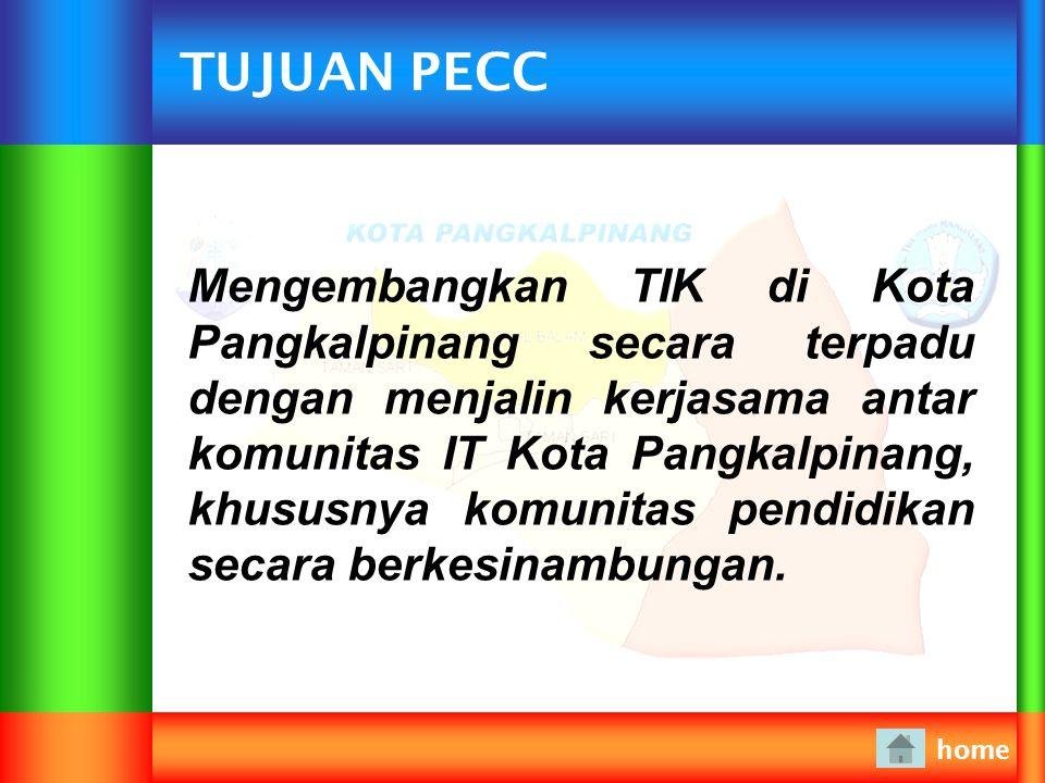VISI PECC home Terdepan dalam pengembangan TIK (Teknologi Informasi & Komunikasi) menuju SmartEdu
