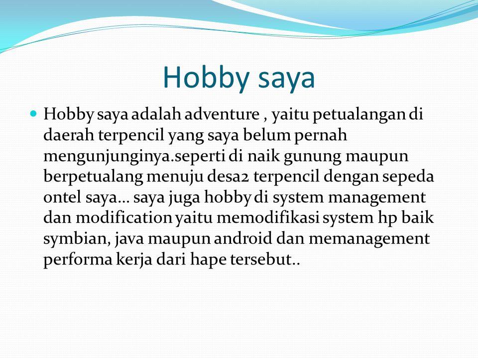 Lanjutan dari hobby Berkat hobby saya, saya dipilih oleh ketua komunitas wapmaster indonesia community sebagai moderator bidang mobile system modification dan phreaking internet service yaitu sebuah kegiatan untuk menghacker kelemahan server ISP dan menjadikannya gratis akses internet..
