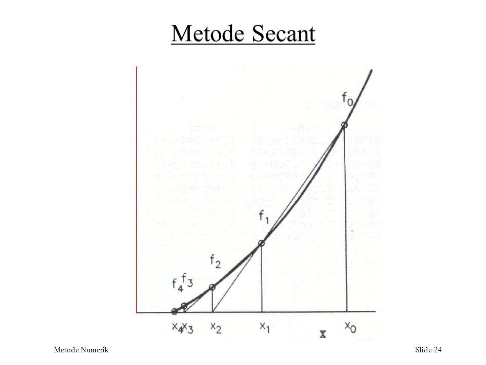 Metode Numerik Slide 24 Metode Secant
