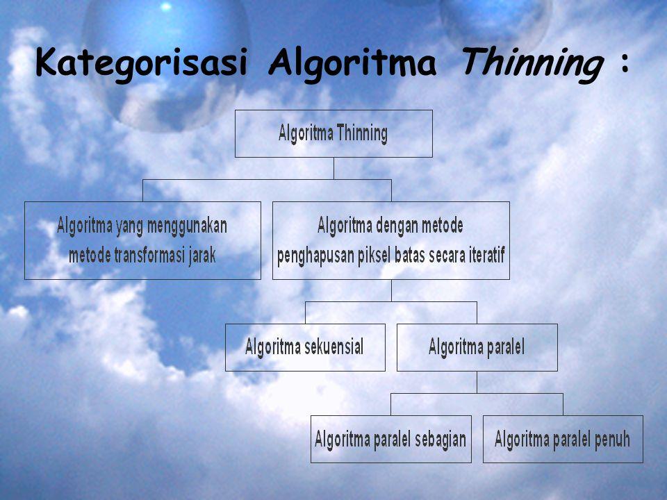 Kategorisasi Algoritma Thinning :