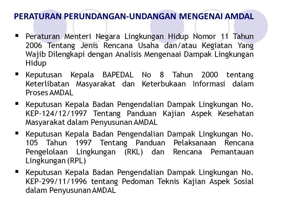  Peraturan Menteri Negara Lingkungan Hidup Nomor 11 Tahun 2006 Tentang Jenis Rencana Usaha dan/atau Kegiatan Yang Wajib Dilengkapi dengan Analisis Me