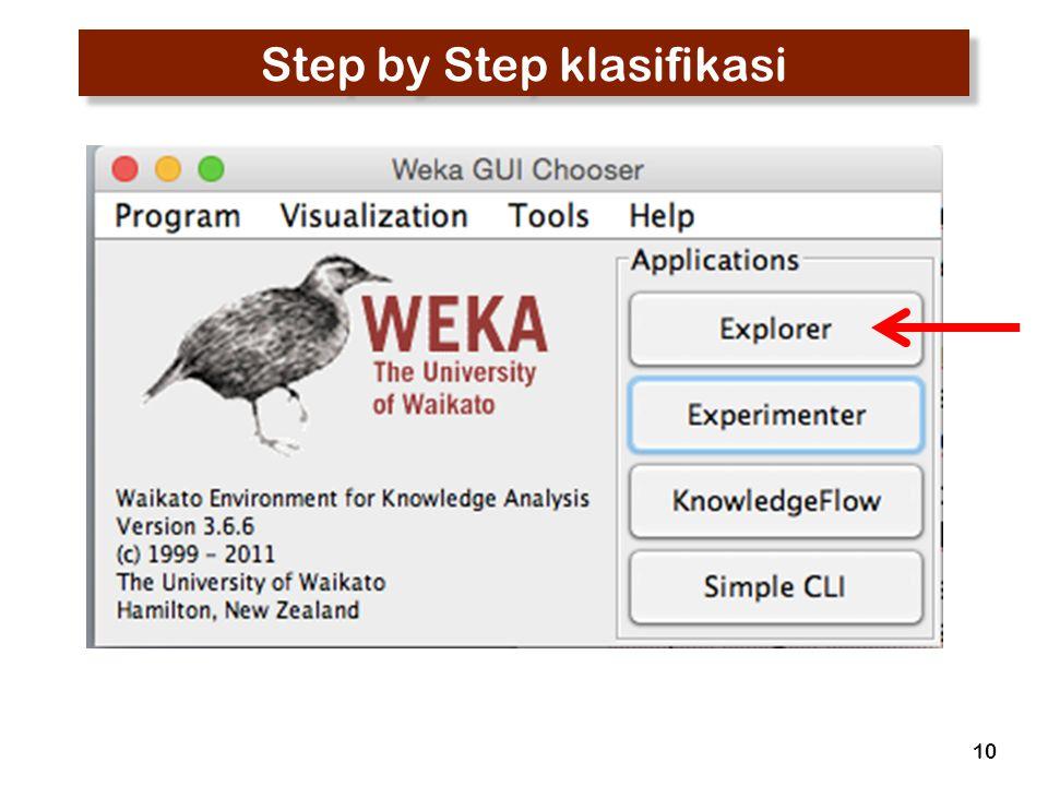 Step by Step klasifikasi 10