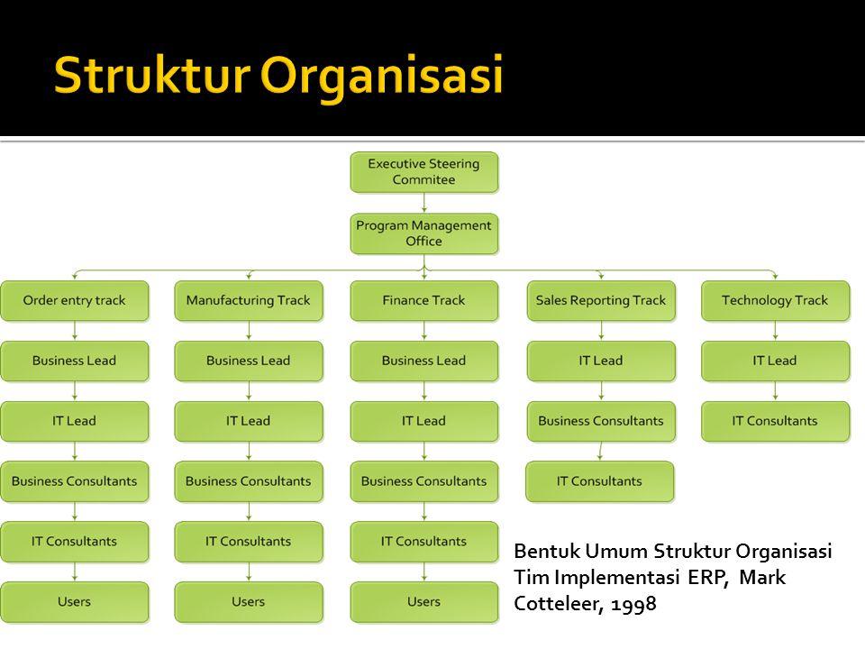 Bentuk Umum Struktur Organisasi Tim Implementasi ERP, Mark Cotteleer, 1998