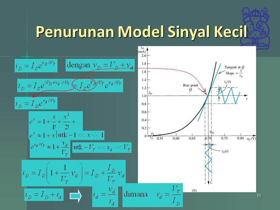 Penurunan Model Sinyal Kecil 12