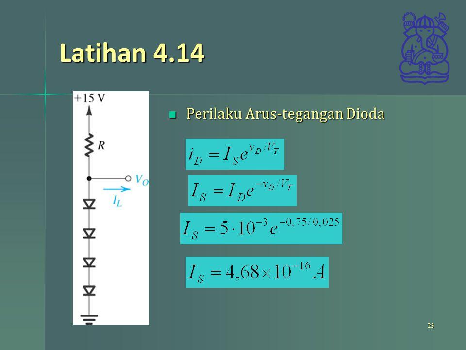 Latihan 4.14 Perilaku Arus-tegangan Dioda Perilaku Arus-tegangan Dioda 23