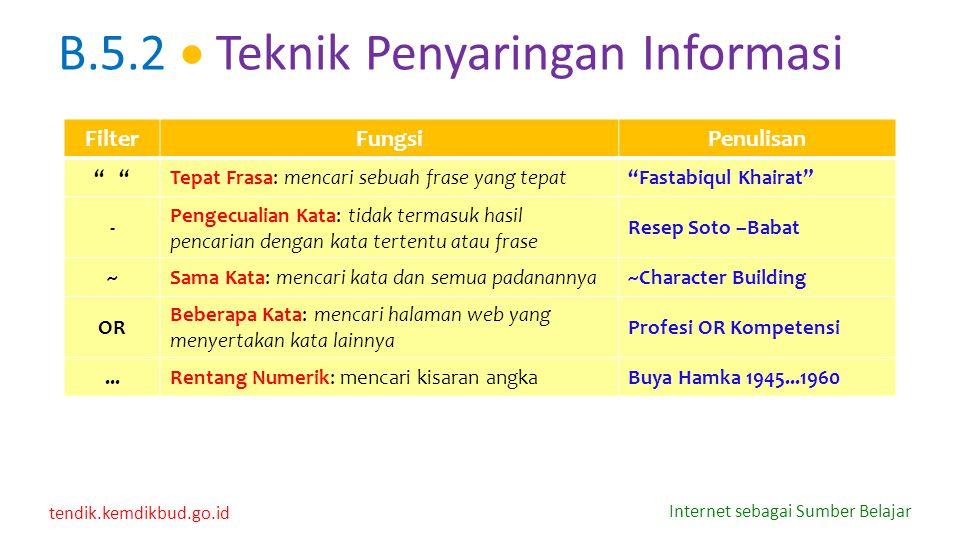 """tendik.kemdikbud.go.id Internet sebagai Sumber Belajar FilterFungsiPenulisan """" Tepat Frasa: mencari sebuah frase yang tepat""""Fastabiqul Khairat"""" - Peng"""