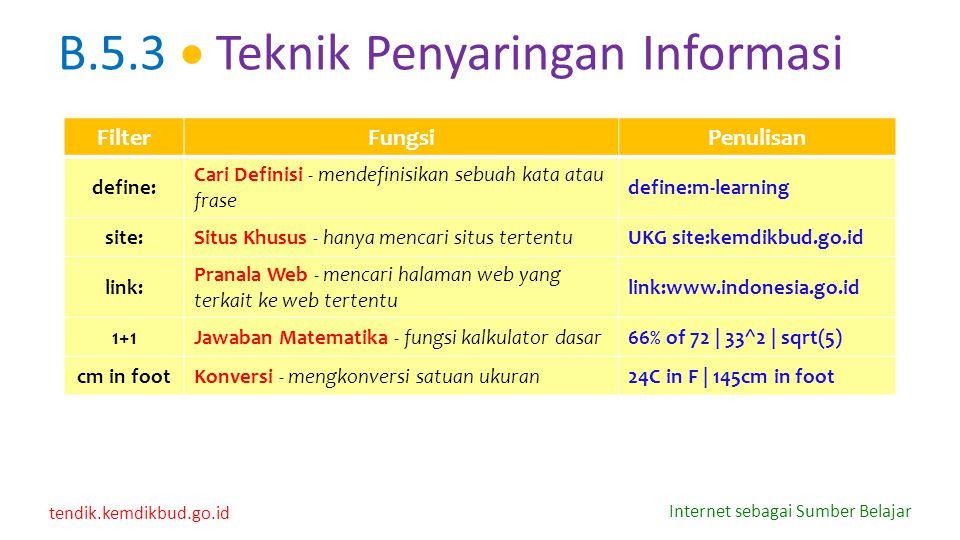 tendik.kemdikbud.go.id Internet sebagai Sumber Belajar FilterFungsiPenulisan define: Cari Definisi - mendefinisikan sebuah kata atau frase define:m-le