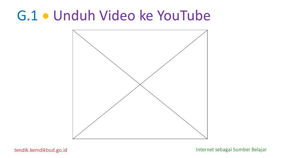 tendik.kemdikbud.go.id Internet sebagai Sumber Belajar G.1  Unduh Video ke YouTube
