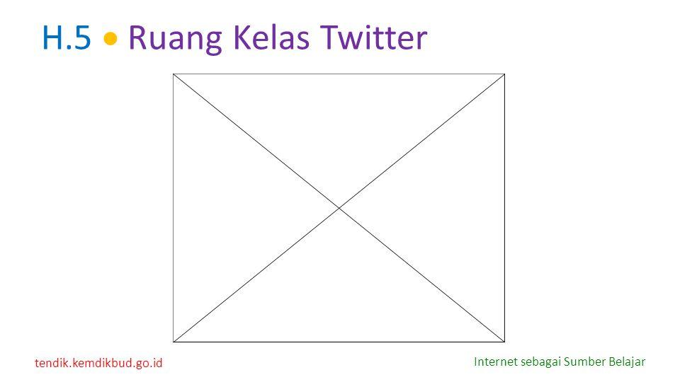 tendik.kemdikbud.go.id Internet sebagai Sumber Belajar H.5  Ruang Kelas Twitter