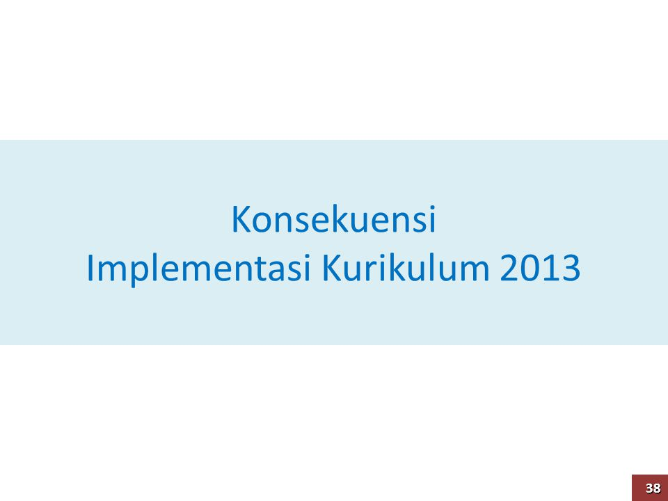 Konsekuensi Implementasi Kurikulum 2013 38