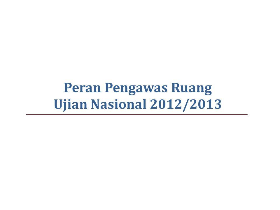 Peran Pengawas Ruang Ujian Nasional 2012/2013 47