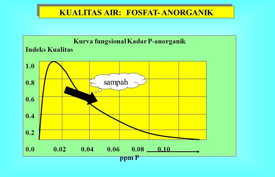 SIKLUS P DALAM PERAIRAN Jaringan tanaman Jaringan binatang DIP P-anorganik larut Batuan fosfat SEDIMEN Jaringan Bakteri POP & DOP particulate & dissol