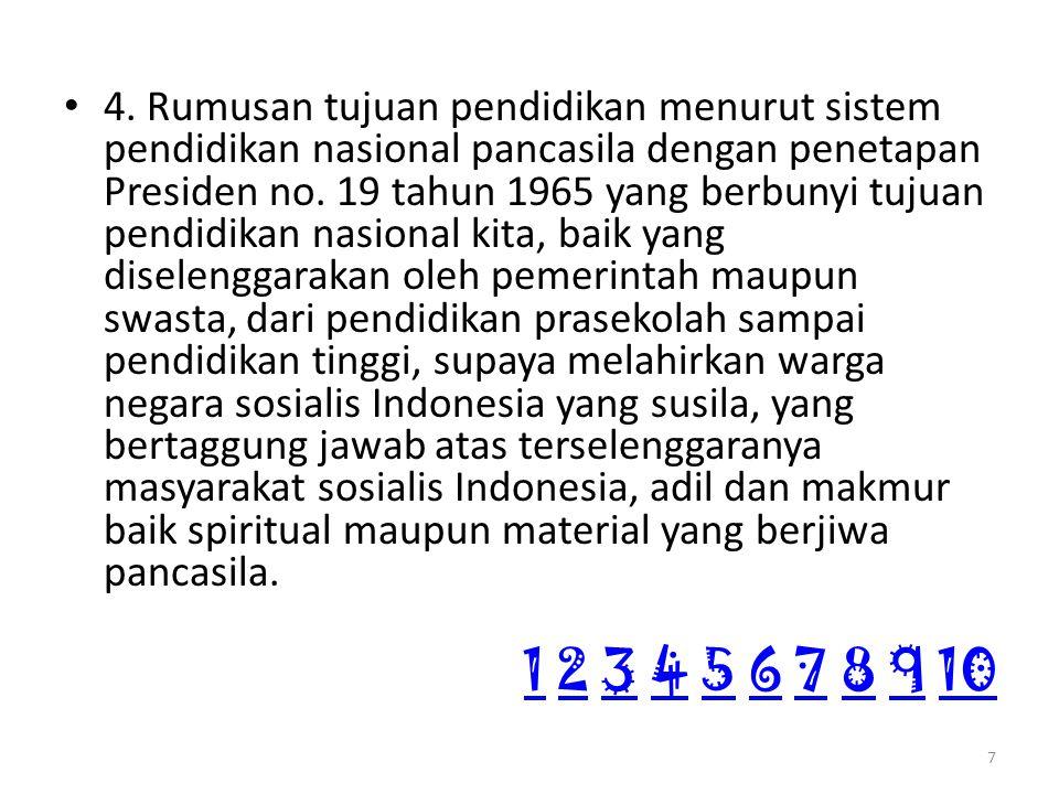 Visi dan Misi Kemdikbud VISI = Terselenggaranya Layanan Prima Pendidikan Nasional untuk Membentuk Insan Indonesia Cerdas Komprehensif 8 11 2 3 4 5 6 7 8 9 102345678910