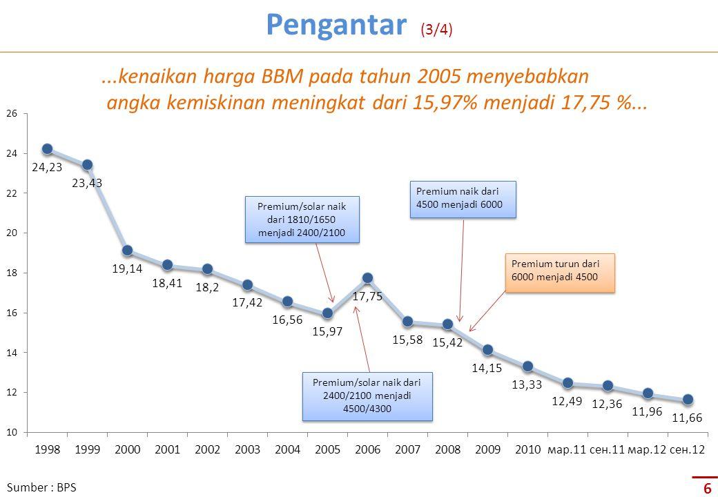Premium naik dari 4500 menjadi 6000 Premium turun dari 6000 menjadi 4500 Premium/solar naik dari 1810/1650 menjadi 2400/2100 Premium/solar naik dari 2