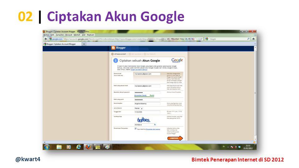 @kwart4 Bimtek Penerapan Internet di SD 2012 02 | Ciptakan Akun Google