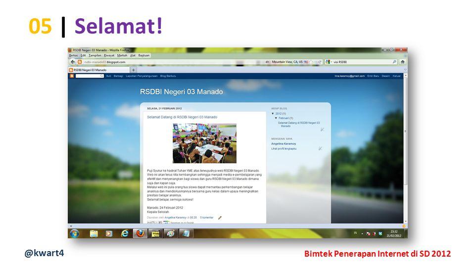 @kwart4 Bimtek Penerapan Internet di SD 2012 05 | Selamat!